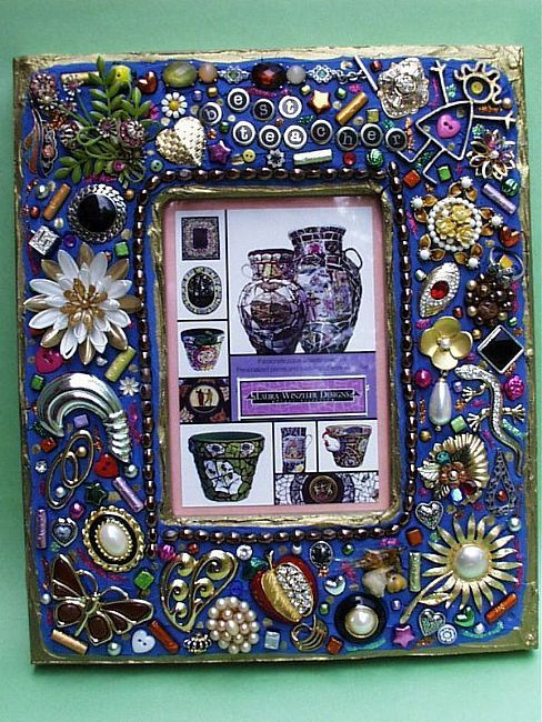 Best Teacher Jewelry Mosaic Photo Frame (available)