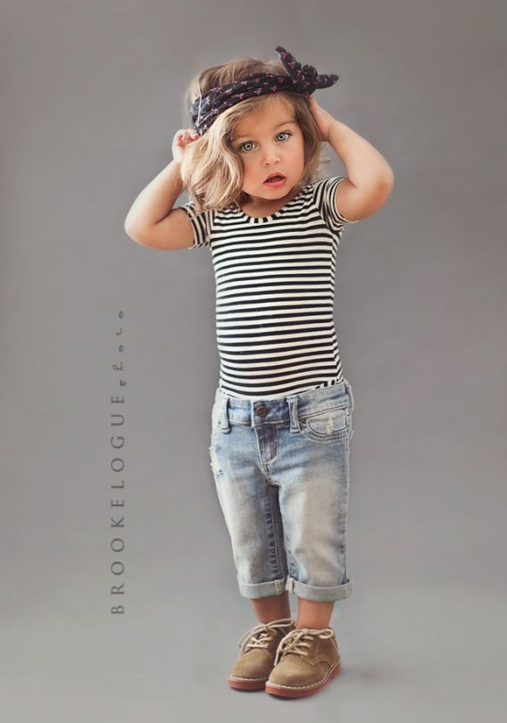stripes and mini boyfriend jeans