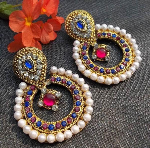 Polki Earrings - cooliyo.com