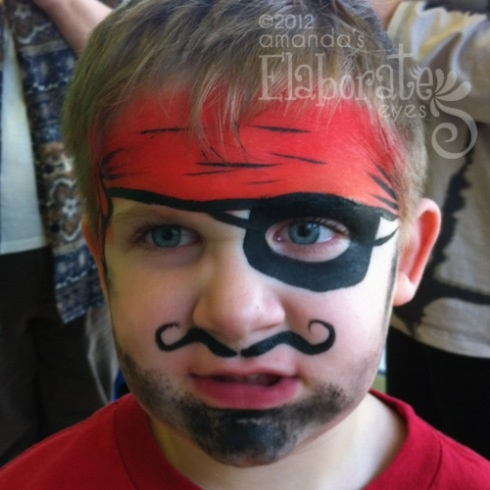 Pirate Face Paint for Boys | Face Painting Ideas for Kids ...