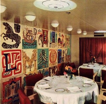 Childrens Dining Room Aboard The Ss Mv Augustus 1951