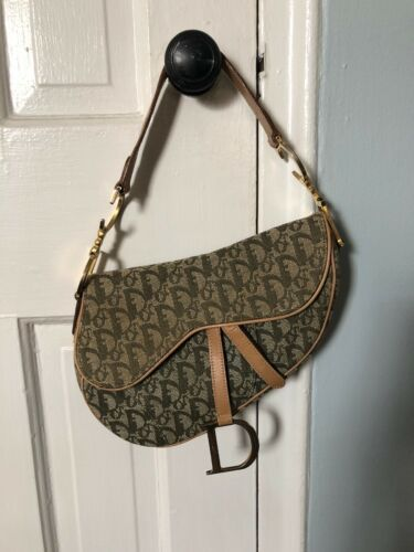 999c1a9fc9 Vintage Christian Dior Saddle Bag Diorissimo | Dior in 2019 | Dior ...