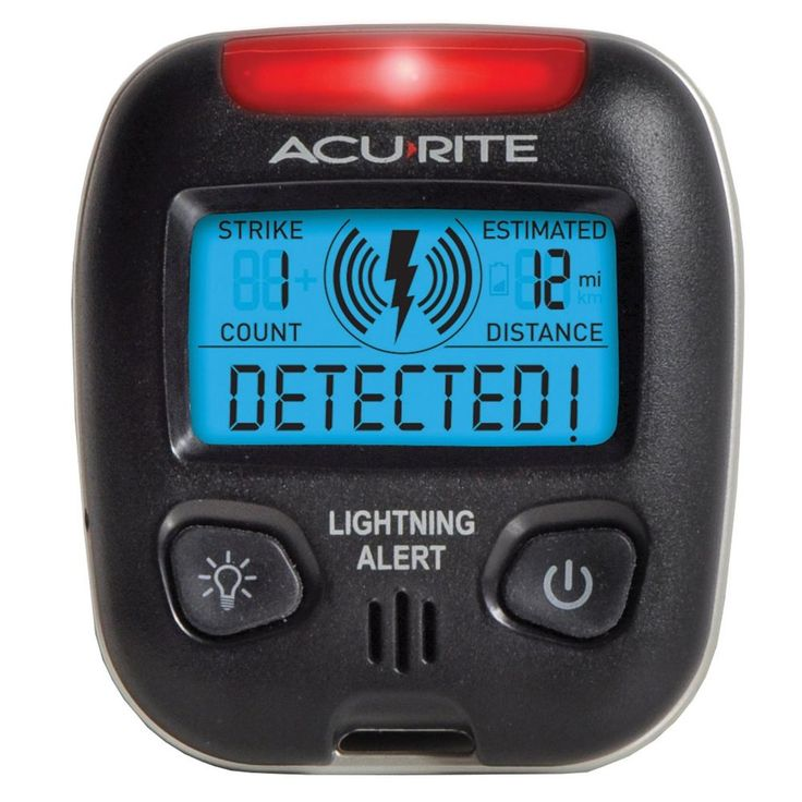 AcuRite 02020 Lightning Detector Weather Device Portable Storm Detector Alarm #AcuRite