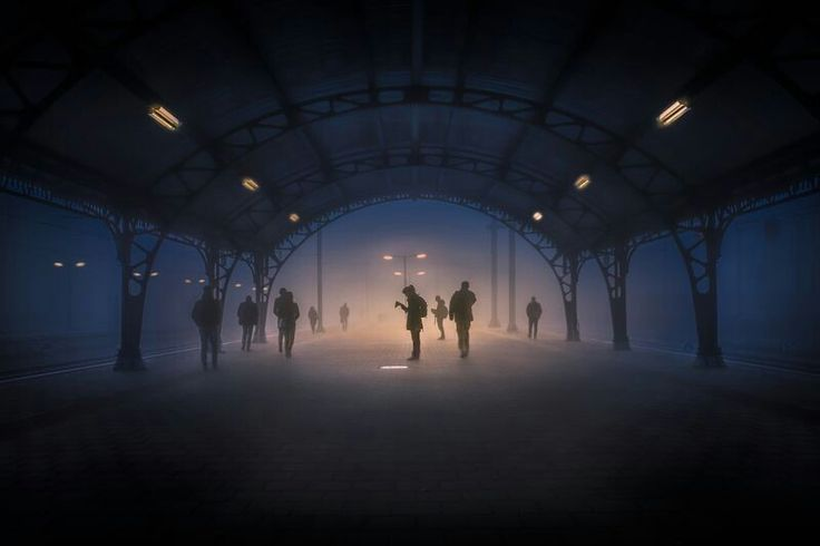 "NOVEMBER 29, 2017MIST CONNECTION  Morning commuters wait for their train at a stop in North Brabant, Netherlands. ""It was like a silent movie,"" says Your Shot photographer Takeshi Ishizaki. ""People were appearing from the mist very quietly and disappearing into it again.""  PHOTOGRAPH BY TAKESHI ISHIZAKI,"