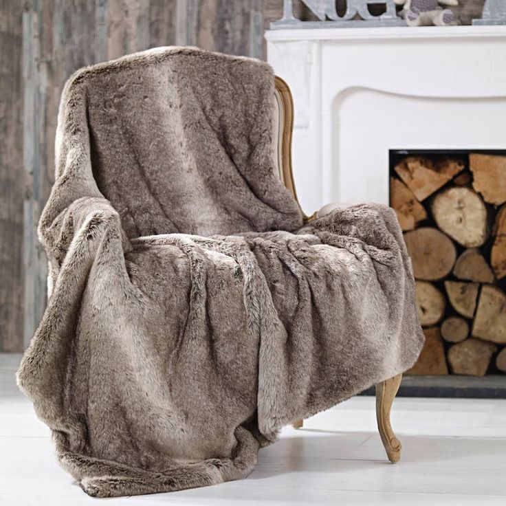 Large Grey Wolf Faux Fur ThrowThis Gorgeous Grey Faux Fur Throw Will Add A  Sumptuous Touch