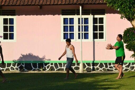 Player football..