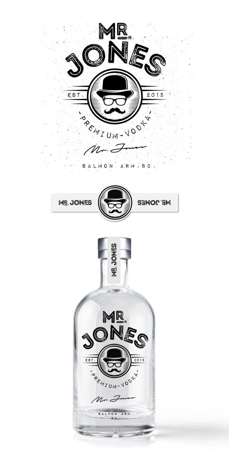 Jones Distilling Vodka Logo Mr Jones