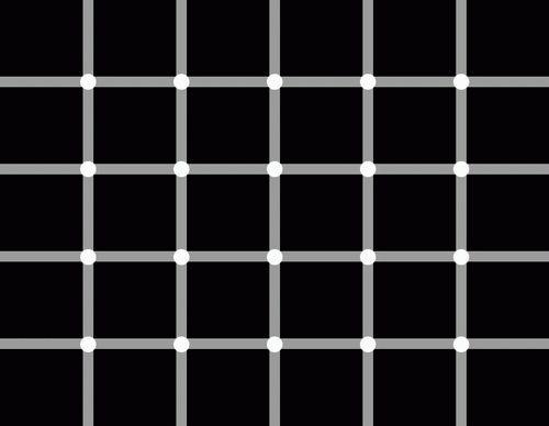 Punkte zählen - Optische Täuschung