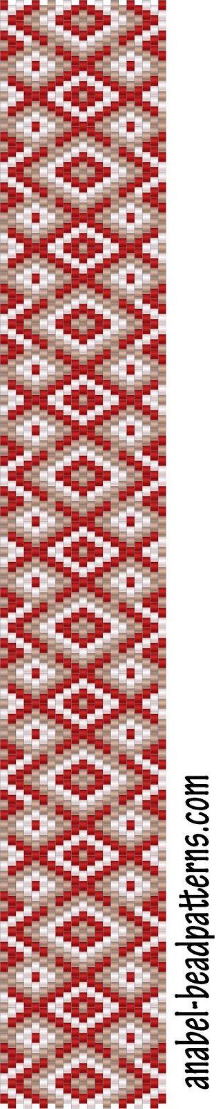 """Схема браслета """"Забытые узоры"""" - Free peyote bracelet pattern   - Схемы для бисероплетения / Free bead patterns -"""