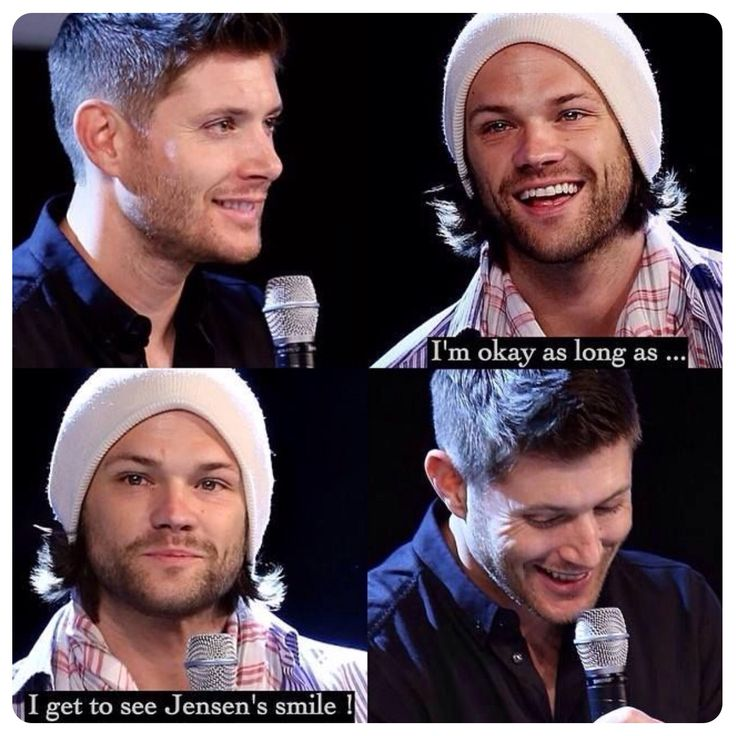 """""""I'm okay as long as... I get to see Jensen's smile!"""" Awww Jared, <3 J2 <3"""