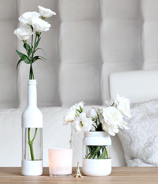 Coole Streichen Ideen für DIY-Glasvasen