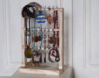 Decor van het huis sieraden opslag sieraden houder, sieraden Display cadeau, oorbellen houder, houder ketting, oorbel organisator, witte sieraden houder