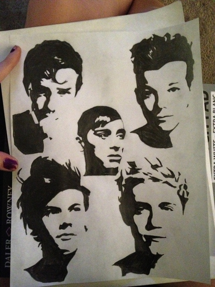 One direction pop art pencil. $10.00, via Etsy ...