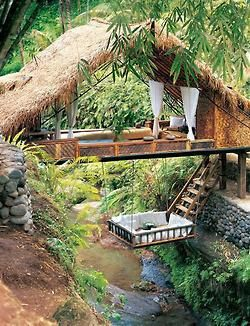 perfect design trees boho bed peaceful nature outdoors architecture travel forest cabin treehouse river Serenity Woods dreamer breathe wooden tree house Spiritual wanderlust hut Stones hammock log cabin Natura coexist earthy thatched roof