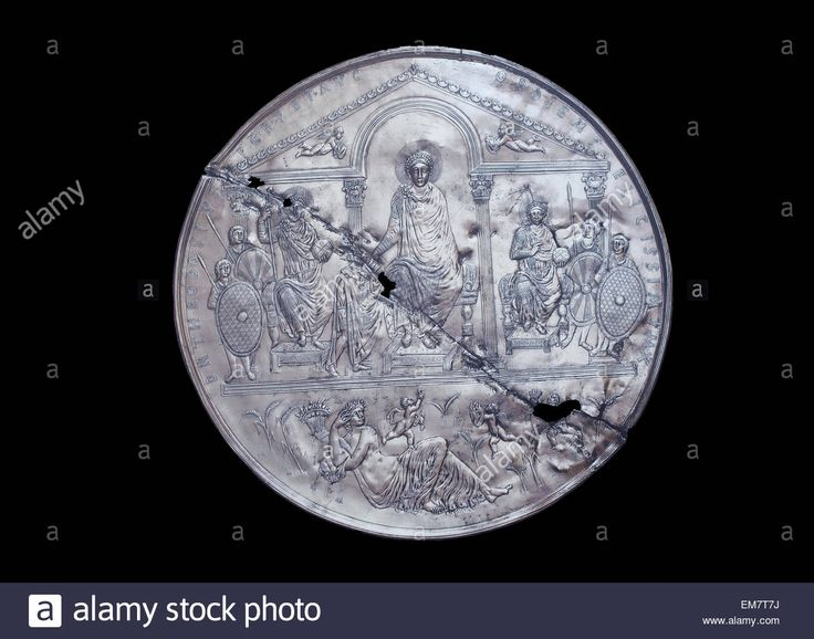 The Missorium Of Theodosius I Is A Large Ceremonial Silver Dish. It Stock Photo, Royalty Free Image: 81307286 - Alamy