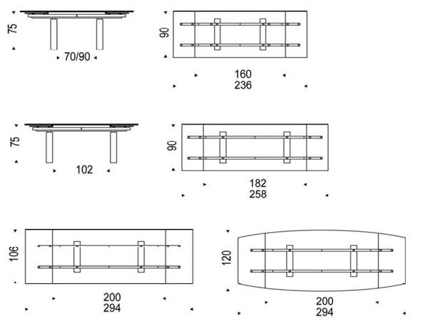 Medidas mesa de bar pesquisa google salas de jantar for Mesa 8 medidas comensales