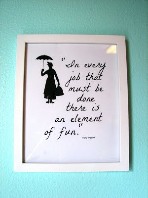 Love Mary Poppins :) cute for a laundry room or linen closet