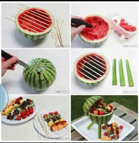 Fruit bbq gezonde traktatie