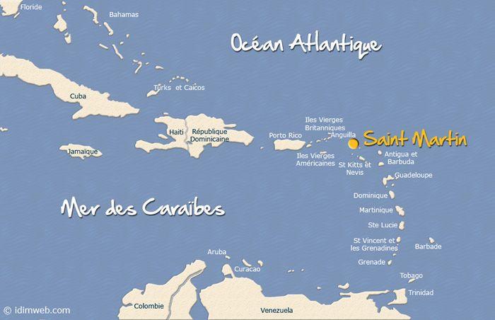 Antilles Françaises : saint martin caraibes