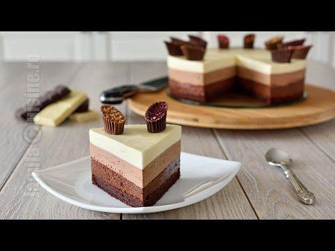 Tort trio de ciocolata - reteta video | JamilaCuisine
