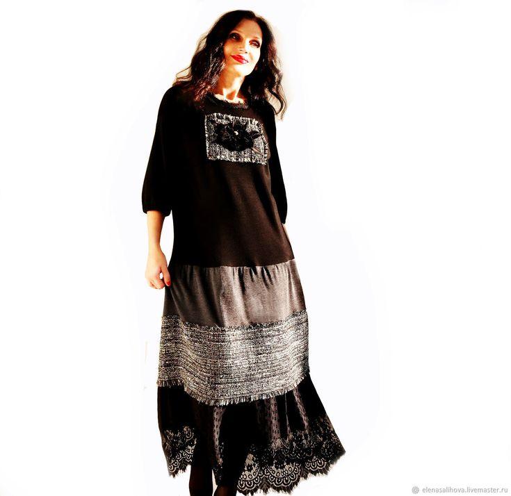 Купить Платье Осень Роза 6 (букле шанель+ гипюр) в интернет магазине на Ярмарке Мастеров
