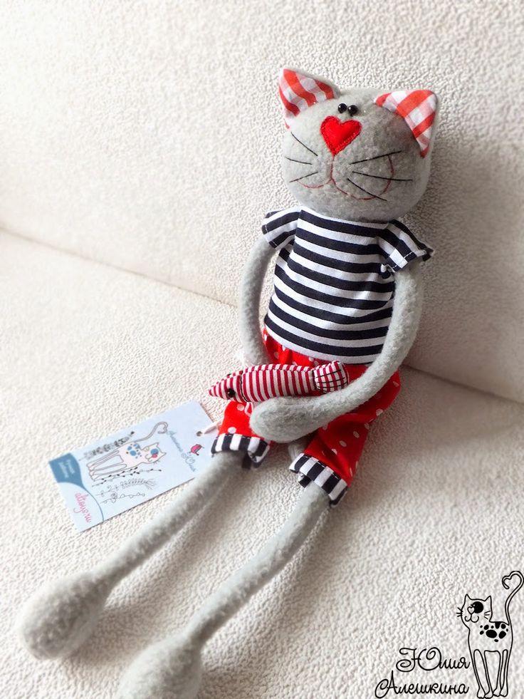 Кот моряк игрушка