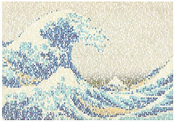 Riders On The Great Wave Giclee Print by RoboticEwePrints on Etsy