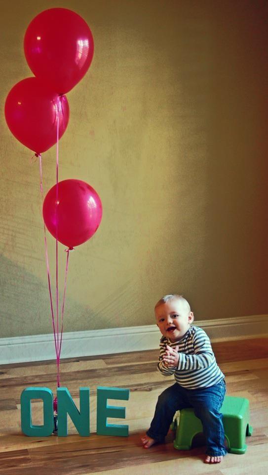Owen 1st birthday balloon pictures
