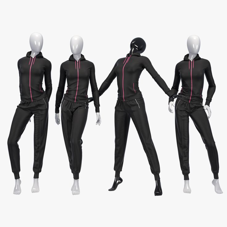 female sport suit 3d max