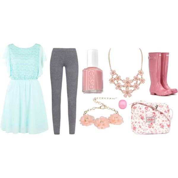 Outfit #2 by chronicles-allie on Polyvore featuring Pussycat, MaxMara, Hunter, Cath Kidston, Dettagli, Eos and Essie: