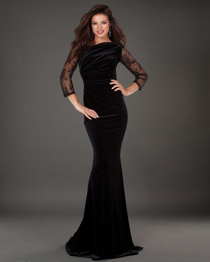 Siyah Uzun Dantel Elbise Modelleri