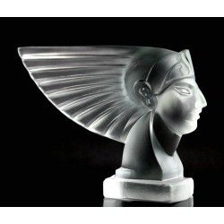 Antique Bohemian Art Deco Glass Car Mascot