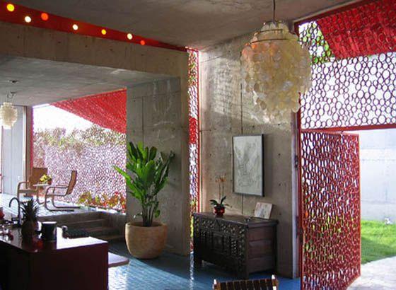 Reyes House interior by Jorge Pardo