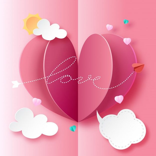Love Card Paper Art Style Paper Craft Videos Valentines Day Card Templates Love Cards