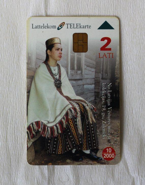 Telecard Chipcard Letland. Semgallen. 1999 van RamonaStore op Etsy