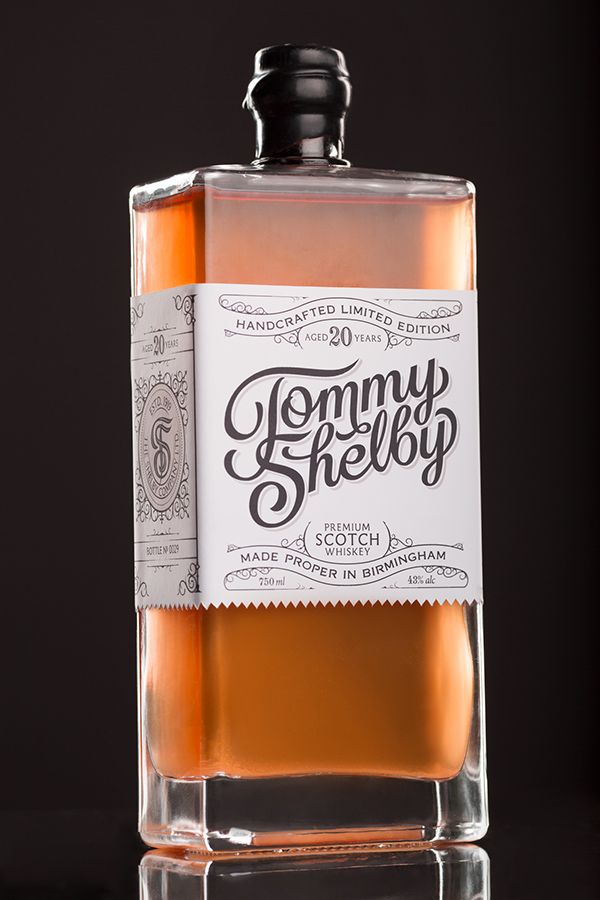 Tommy Shelby Whiskey Packaging on Packaging Design Served