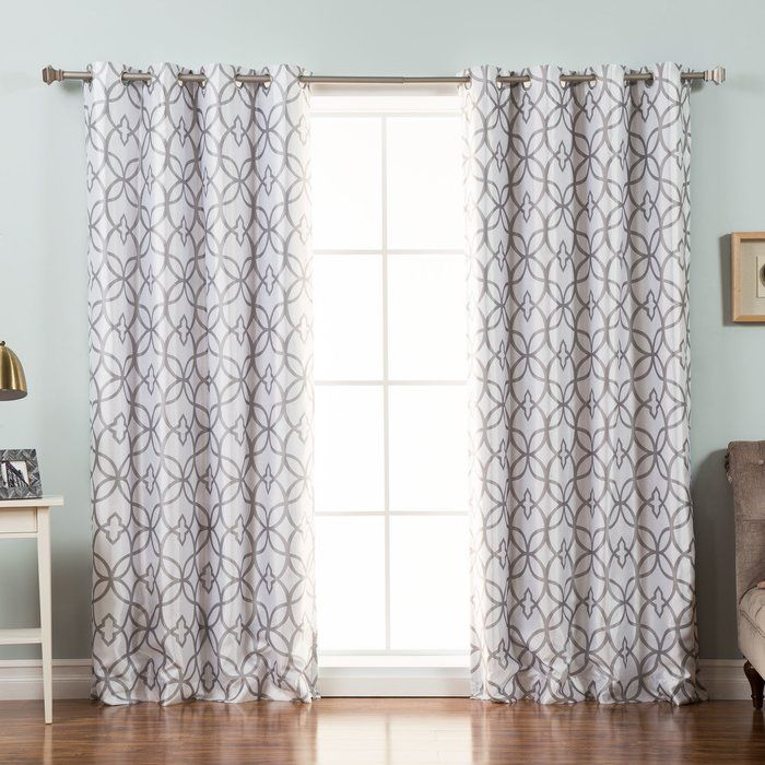 Trellis Geometric Blackout Thermal Grommet Single Curtain Panel Colorful Curtains Panel Curtains Drapes And Blinds