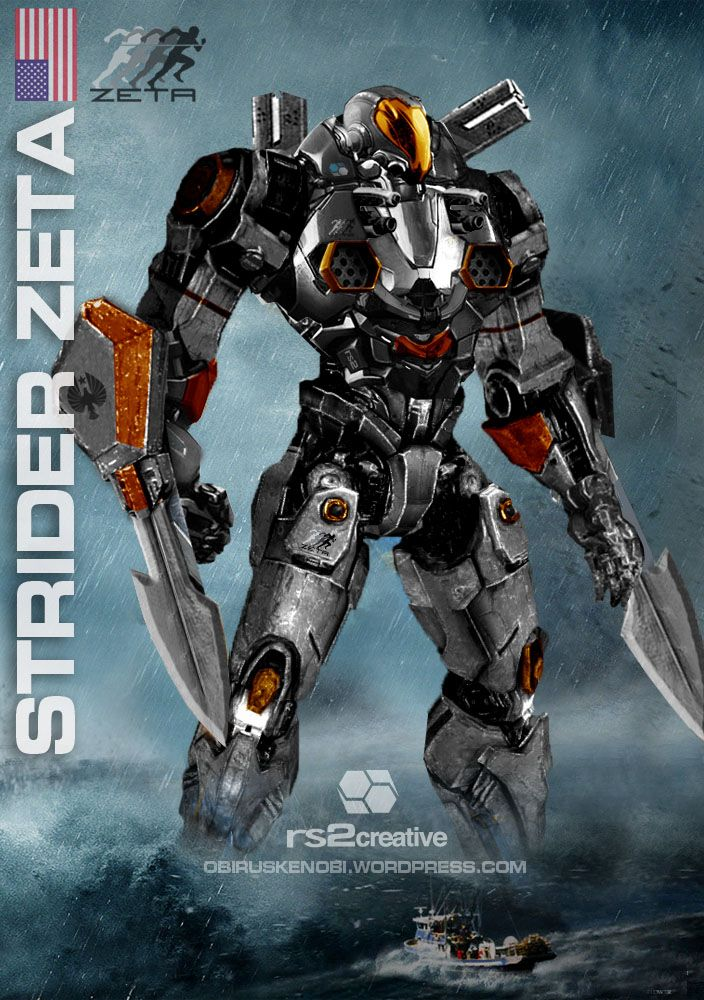 jaeger concept art | Strider Zeta Custom Jaeger Request by rs2studios