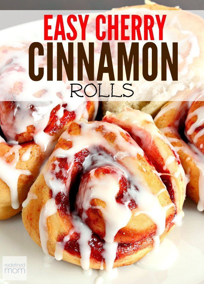 Imagine a cherry pie and cinnamon rolls got married and had a baby? It would be the deliciousness of this homemade easy cherry cinnamon rolls recipe.