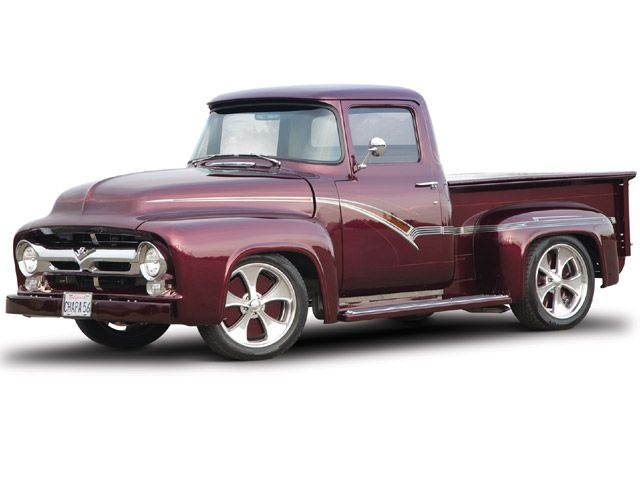 u0027s custom 1956 Ford truck with a from a 1969 Chevy Camaro and a Turbo 350 transmission with high-stall torque converter in the May 2009 issue of Sport ...  sc 1 st  Pinterest & 476 best Ford trucks images on Pinterest | Pickup trucks Classic ... markmcfarlin.com