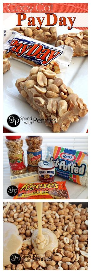 Copy Cat PayDay Candy Bars!