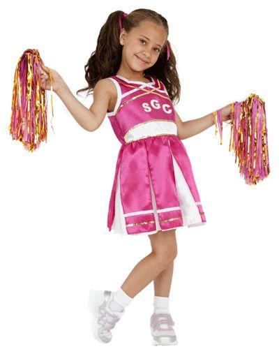 Roze cheerleader kostuum voor meisjes. Dit schattige roze cheerleader kostuum wordt inclusief cheerballs geleverd. Maak van uw dochter een echte cheerleader met dit roze cheerleader kostuum.