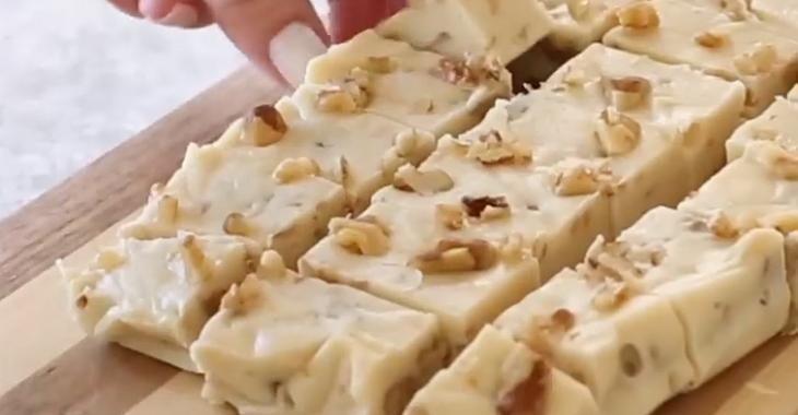 Un grand favori: le fudge à la vanille et aux noix de Grenoble