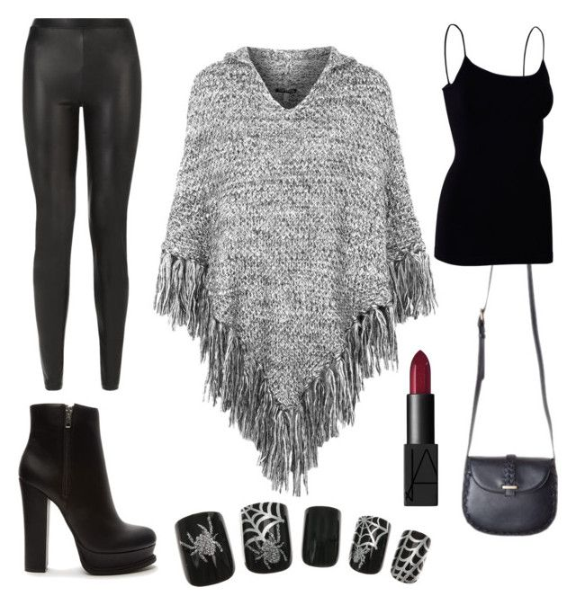 """""""Black"""" by aninditaarr on Polyvore featuring Topshop, Forever 21, JDY and NARS Cosmetics"""