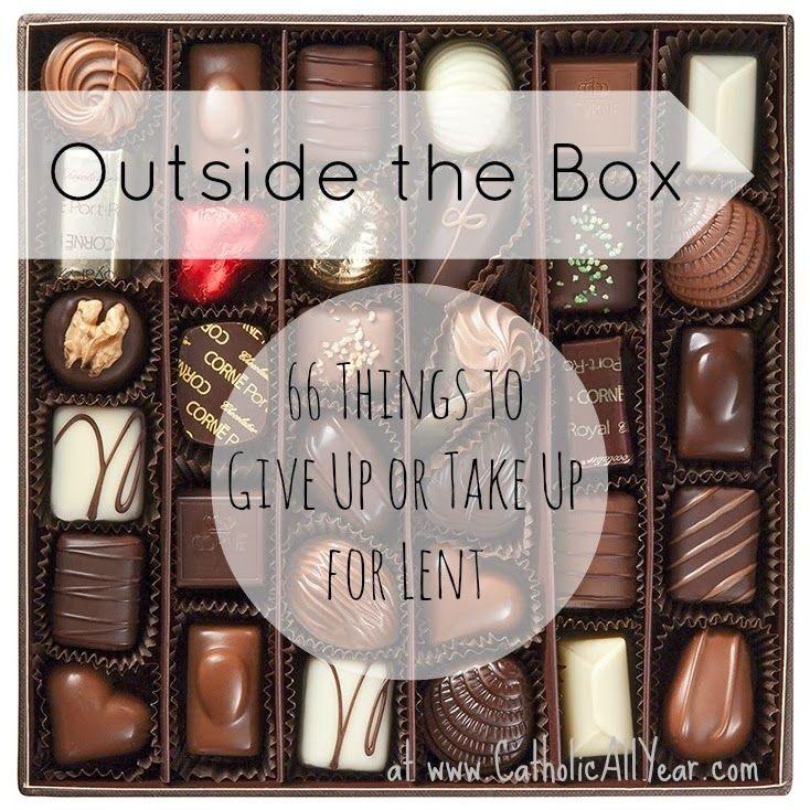 Lent ideas, outside the box!