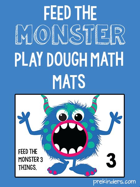 These monster play dough math mats will fit right in with your Halloween activities. I like this fuzzy, non-scary, kid-friendly monster — so cute!   To make the mats, print them out and either laminate them or slip them into page protectors. I always use page protectors and bind them together with metal binder rings so …
