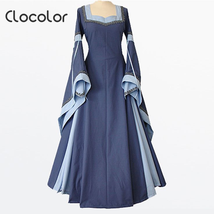 Goedkope Clocolor middeleeuwse jurk lichtblauw vintage stijl gothic jurk floor lengte vrouwen cosplay jurken retro lange middeleeuwse jurk gown, koop Kwaliteit   rechtstreeks van Leveranciers van China:   Clocolor medieval dress light blue vintage style gothic dress floor length women cosplay dresses retro long medieval d