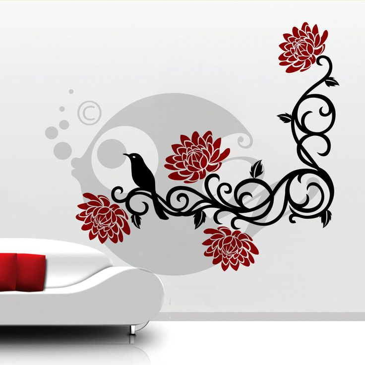 With this  Floral Branch  Wall Sticker Decal you can decorate your walls in one of the most modern and elegant ways