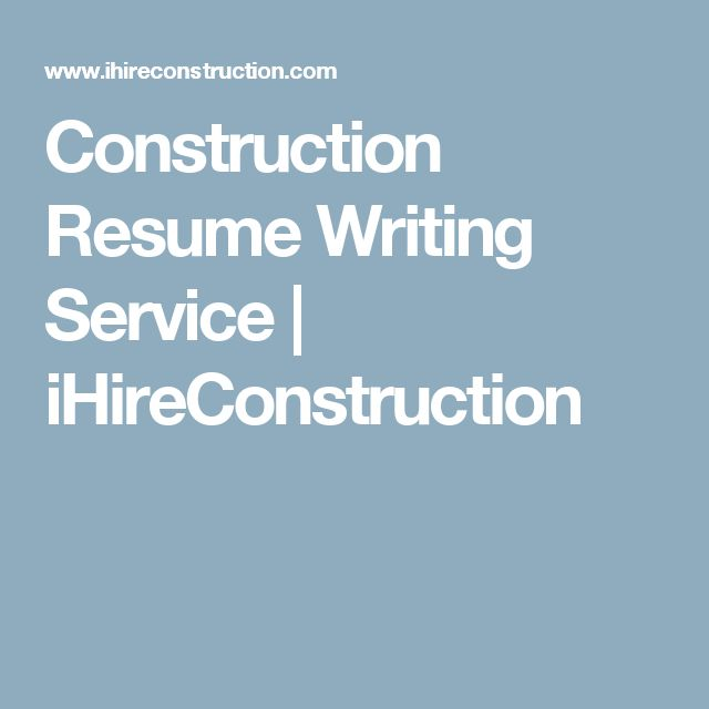 Well-formatted building resume or CV is your key to success