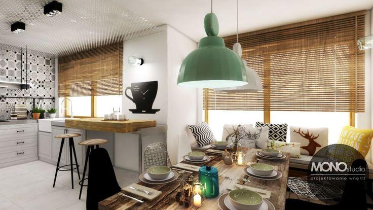 Dominujący we wnętrzach skandynawskich biały kolor jest idealnie uzupełniany przez kolorowe dodatki i materiały dekoracyjne, które nadają wnętrzu uroku. Po więcej inspiracji zapraszamy na Naszą stronę internetową:biuro@monostudio.pl oraz na Facebooka